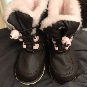 Nona kids boots pink & brown size 5